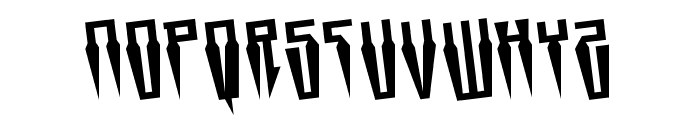 Swordtooth Rotated Font UPPERCASE