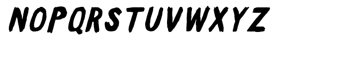 Sweeper Slanted Font UPPERCASE