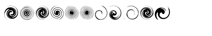 Swirlies Regular Font LOWERCASE