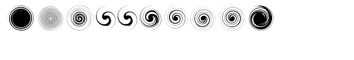 Swirlies Two Regular Font OTHER CHARS