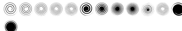 Swirlies Two Regular Font UPPERCASE