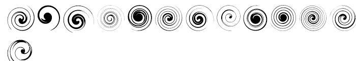Swirlies Two Regular Font LOWERCASE
