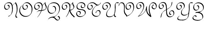 Swirlity Script Regular Font UPPERCASE
