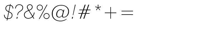 Swiss 721 Thin Italic Font OTHER CHARS