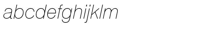 Swiss 721 Thin Italic Font LOWERCASE