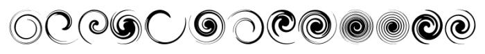 Swirlies Regular Font UPPERCASE