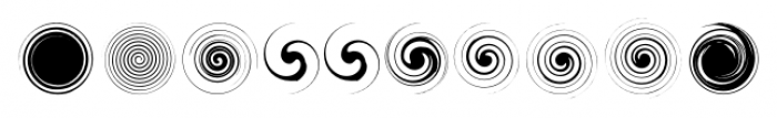 SwirliesTwo Regular Font OTHER CHARS
