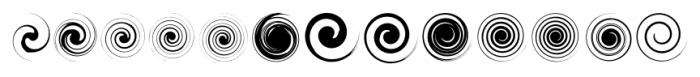 SwirliesTwo Regular Font UPPERCASE