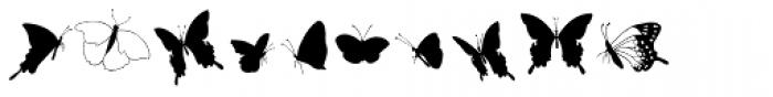 Swallowtail Butterflies Font OTHER CHARS