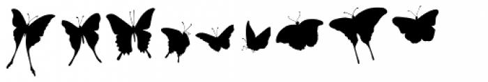 Swallowtail Butterflies Font UPPERCASE