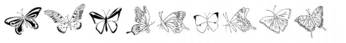 Swallowtail Butterflies Font LOWERCASE