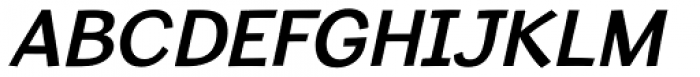 Sweater School SemiBold Italic Font UPPERCASE