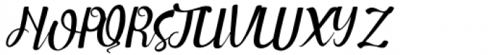 Sweet Girls Slant Font UPPERCASE