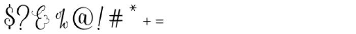 Sweetgentle Regular Font OTHER CHARS