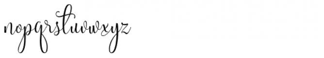 Sweetgentle Regular Font LOWERCASE