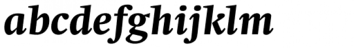 Swift Pro Heavy Italic Font LOWERCASE
