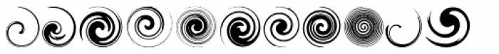 Swirlies Font UPPERCASE