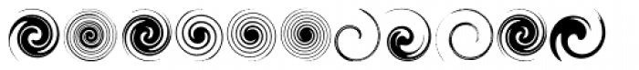 Swirlies Font LOWERCASE