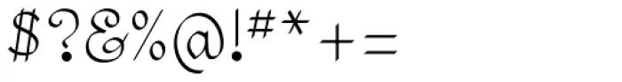 SwirlityScript Plain Font OTHER CHARS
