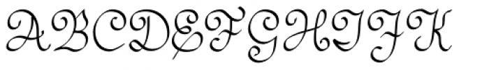 SwirlityScript Plain Font UPPERCASE