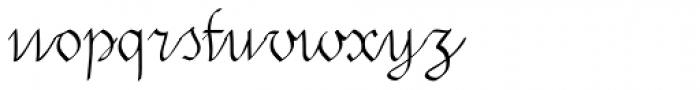 SwirlityScript Plain Font LOWERCASE