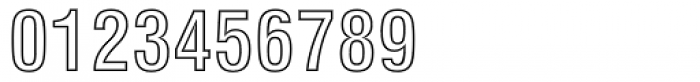 Swiss 721 Condensed Bold Outline Font OTHER CHARS
