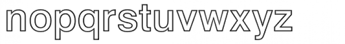 Swiss 721 Std Bold Outline Font LOWERCASE