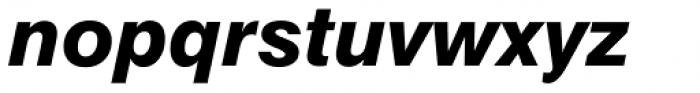 Swiss 721 Std Heavy Italic Font LOWERCASE
