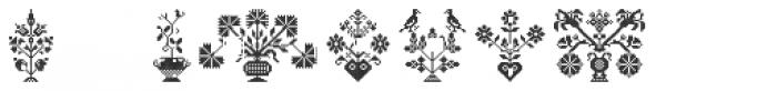Swiss Folk Ornaments Floral Font OTHER CHARS