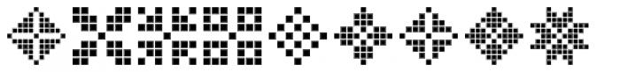 Swiss Folk Ornaments Geometric Font OTHER CHARS