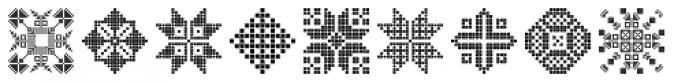 Swiss Folk Ornaments Geometric Font LOWERCASE