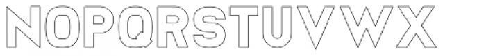 Sworded Outline Font LOWERCASE