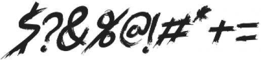 SYEMOX italic otf (400) Font OTHER CHARS