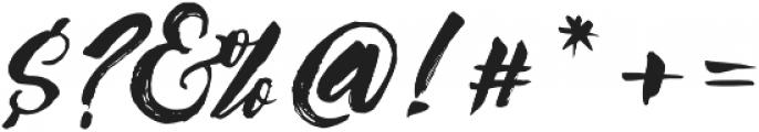 Syabab Brush Script otf (400) Font OTHER CHARS