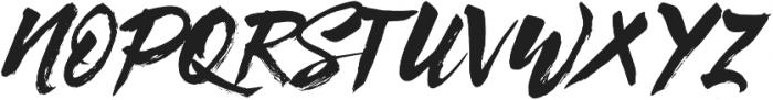 Syabab Brush Script otf (400) Font UPPERCASE