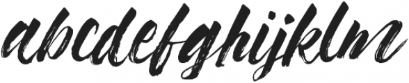 Syabab Brush Script otf (400) Font LOWERCASE