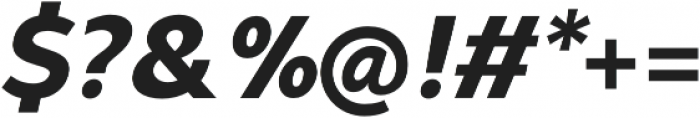 Syabil ExtraBold Italic otf (700) Font OTHER CHARS