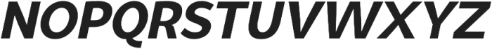Syabil ExtraBold Italic otf (700) Font UPPERCASE