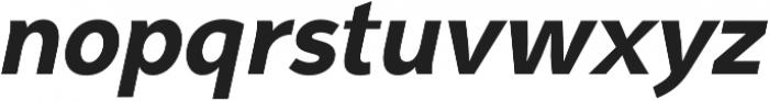 Syabil ExtraBold Italic otf (700) Font LOWERCASE