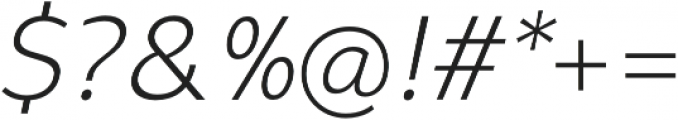 Syabil Light Italic otf (300) Font OTHER CHARS