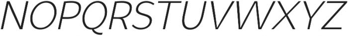 Syabil Light Italic otf (300) Font UPPERCASE