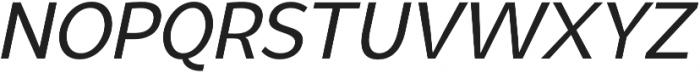 Syabil Regular Italic otf (400) Font UPPERCASE