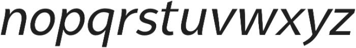 Syabil Regular Italic otf (400) Font LOWERCASE