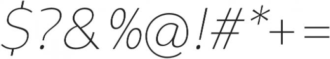 Syabil Thin Italic otf (100) Font OTHER CHARS