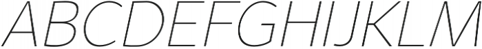 Syabil Thin Italic otf (100) Font UPPERCASE