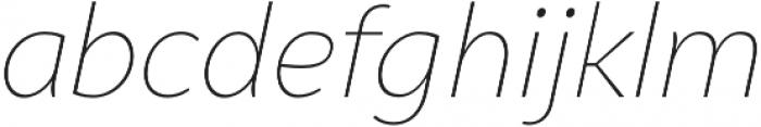 Syabil Thin Italic otf (100) Font LOWERCASE