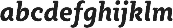 Sybilla Rough Pro Narrow Bold Italic otf (700) Font LOWERCASE