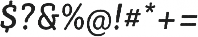 Sybilla Rough Pro Narrow Regular Italic otf (400) Font OTHER CHARS