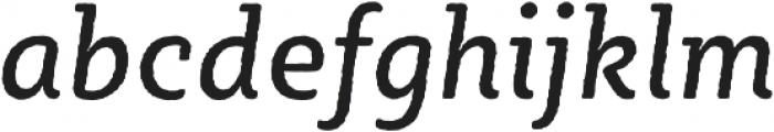 Sybilla Rough Pro Narrow Regular Italic otf (400) Font LOWERCASE