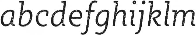 Sybilla Rust Pro Narrow Light Italic otf (300) Font LOWERCASE